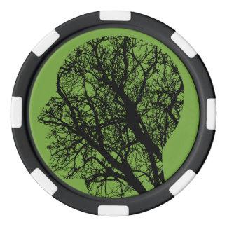 木の頭部 ポーカーチップ