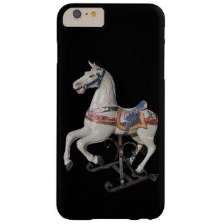 木の馬の旧式な回転木馬B Iphoneの場合 iPhone 6 Plus ベアリーゼアケース