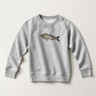 木の魚の写真 スウェットシャツ
