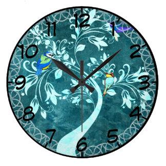 木の鳥 ラージ壁時計