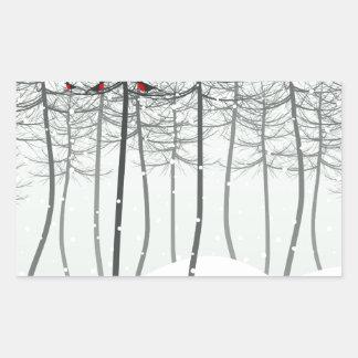 木の鳥 長方形シール