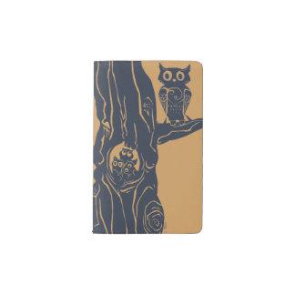 木の3匹のowlets ポケットMoleskineノートブック