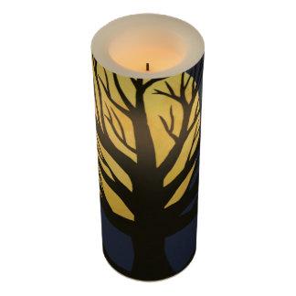 木の(黄色い)ハロウィン気味悪いLEDの蝋燭 LEDキャンドル