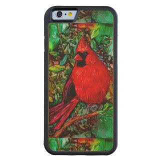 木のCardianl CarvedメープルiPhone 6バンパーケース