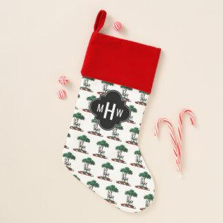 木のHeraldic頂上の紋章によるクリスマスのシカの雄鹿 クリスマスストッキング