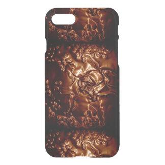木のHuggerの浮彫りになる芸術 iPhone 7ケース