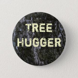 木のHuggerボタン 5.7cm 丸型バッジ
