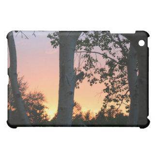 木のiPadの場合の日没 iPad Miniケース