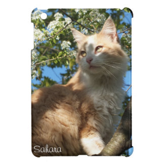 木のiPad Miniケースの*personalize*のサハラ砂漠猫 iPad Miniケース