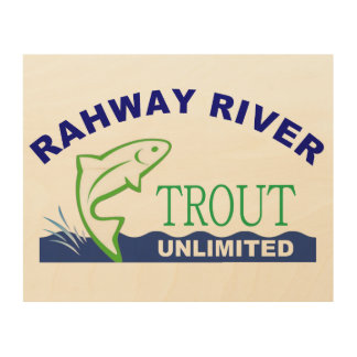 木のRahwayの川のマスの無制限の印 ウッドウォールアート