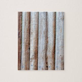 木のSlatted塀 ジグソーパズル