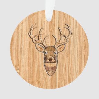木びき台のシカの頭部の木製の穀物のスタイルの装飾 オーナメント