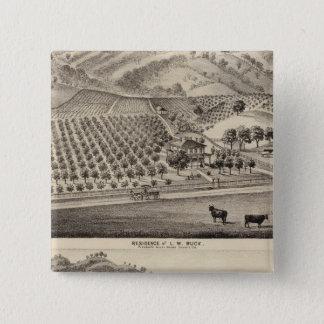 木びき台resのバンカーヒル農場 5.1cm 正方形バッジ