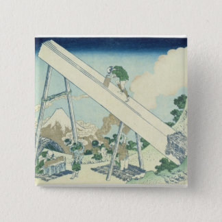 木びき1729年 5.1CM 正方形バッジ