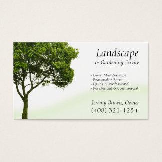 木または芝生の心配の名刺 名刺