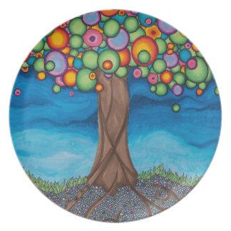 木を夢を見ること プレート