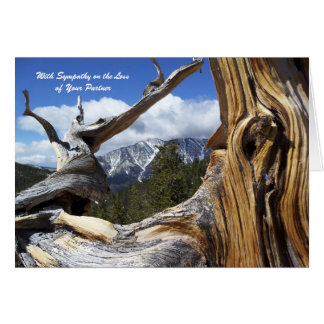 木を通したパートナー山の悔やみや弔慰の損失を使って カード