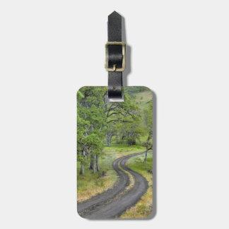 木を通した田舎道、オレゴン ラゲッジタグ