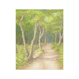 木を通した道、Leithの丘のキャンバスのプリント キャンバスプリント