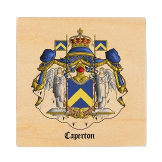 木コースターCapertonの紋章付き外衣 ウッドコースター