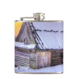 木山小屋の日没 フラスク