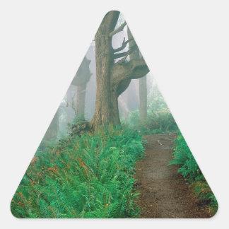 木岬の眺望の森 三角形シールステッカー
