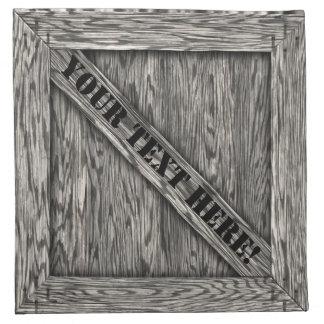 木枠のナプキン-流木-文字の有無にかかわらず… ナプキンクロス