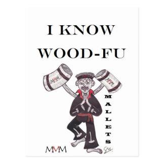 木槌-私は木製のFuを知っています ポストカード
