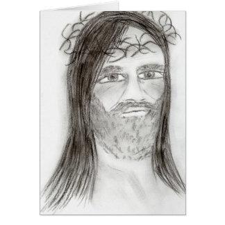 木炭のイエス・キリスト カード