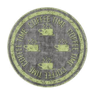 木炭のコーヒー時間ライムグリーン カッティングボード