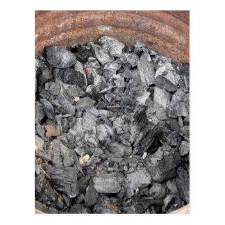 木炭のバケツ ポストカード