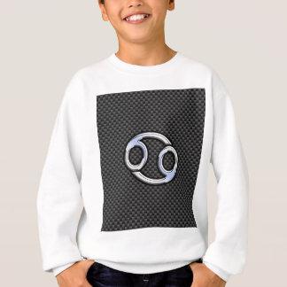 木炭カーボン繊維のプリントの蟹座の(占星術の)十二宮図の印 スウェットシャツ