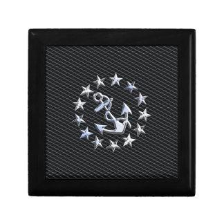木炭グリルの銀製のヨットの海軍旗 ギフトボックス