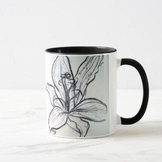 木炭ユリ マグカップ