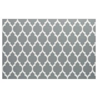 木炭白いモロッコのクローバーパターン#4 Sz12 ファブリック