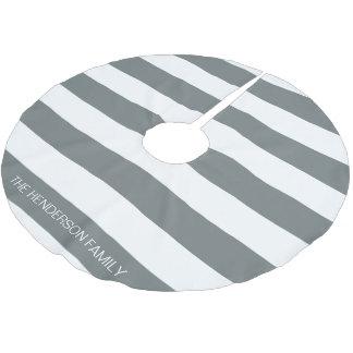 木炭白いHorizのプレッピーなストライプ#3の一流のモノグラム ブラッシュドポリエステルツリースカート