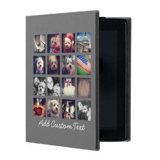木炭背景- 16写真が付いている写真のコラージュ iPad ケース