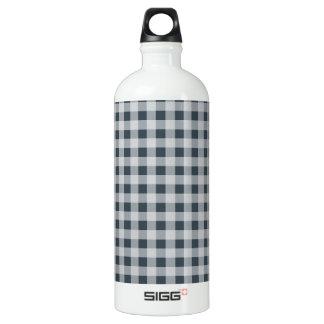 木炭色のギンガム ウォーターボトル