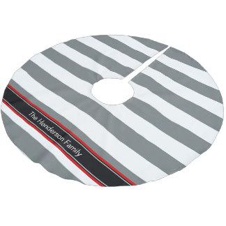 木炭重量のHorzのプレッピーでストライプで黒い一流のモノグラム ブラッシュドポリエステルツリースカート