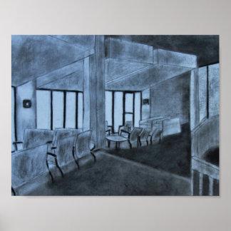 木炭Windowed部屋 ポスター