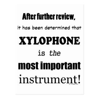 木琴の最も重要な楽器 ポストカード