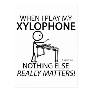 木琴は何も重要です ポストカード
