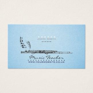 木管楽器のミュージシャンまたは音楽の先生の名刺v2 名刺