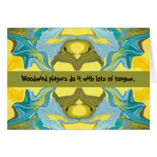 木管楽器プレーヤーのユーモア カード