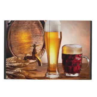 木表2のビールガラスが付いているビヤ樽 iPad AIRケース