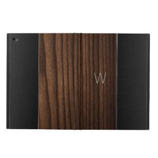 木製および金属一見のモノグラムのなiPadの空気2箱 Powis iPad Air 2 ケース