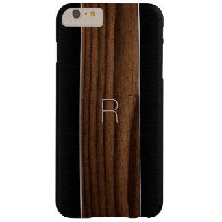 木製および金属一見のiPhone 6のプラスの場合 スキニー iPhone 6 Plus ケース