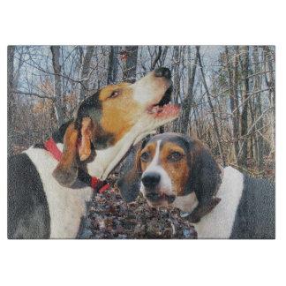 木製のまな板のTreeingの歩行者のCoonhounds カッティングボード