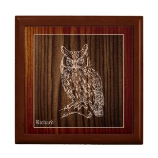 木製のアメリカワシミミズクのカスタム ギフトボックス