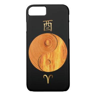 木製のオンドリの年および牡羊座は印のiPhoneの箱を始動させます iPhone 8/7ケース
